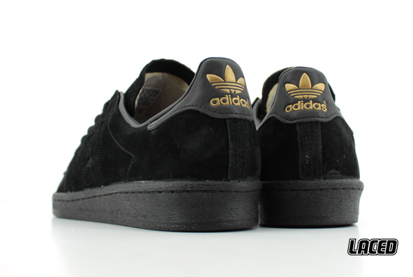 cf123b86167fa Black on black Adidas Campus   laced